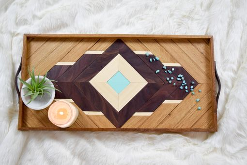 Custom Made Iris Wood Breakfast Serving Tray