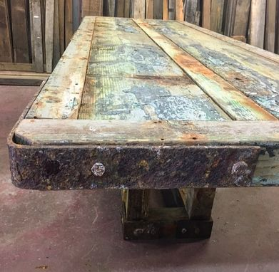 Custom Made Marine Wood Dining Table