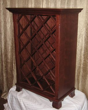 Custom Made Traditional Cherry Wine Rack Case