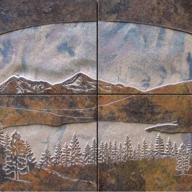 Custom Made Porcelain Tile Mural Of Lake Dillon