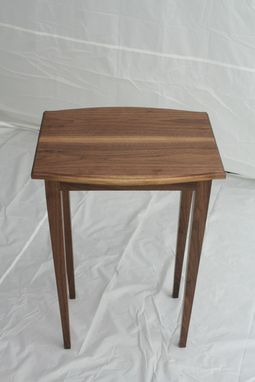 Custom Made Walnut Side Table - Shipping Included