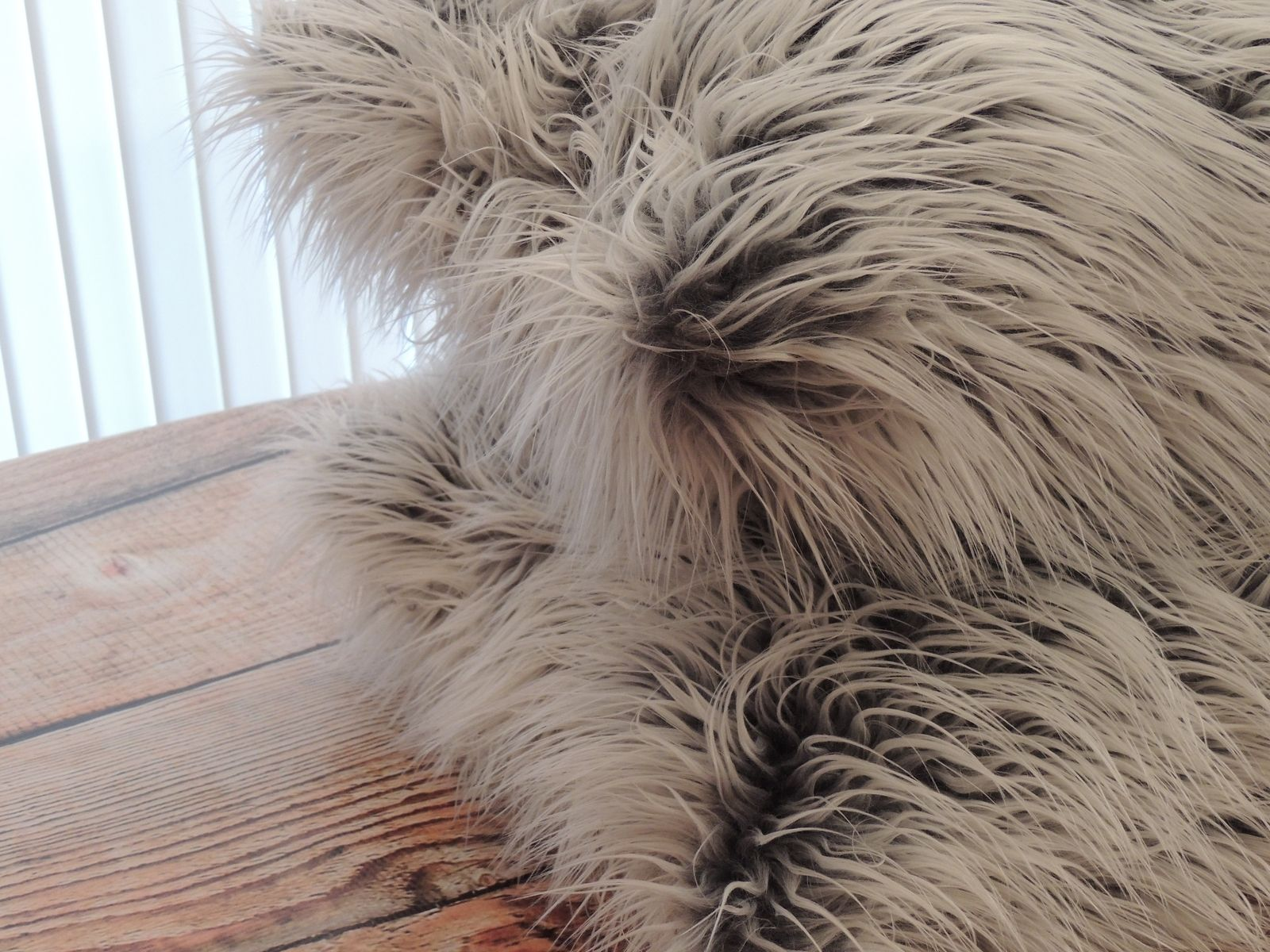 Buy A Custom Mongolian Grey Frost Faux Fur 18 X 18 In