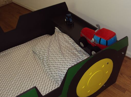 Custom Made Tractor Twin Kids Bed Frame - Handcrafted - Farm Tractor Themed Children's Bedroom Furniture