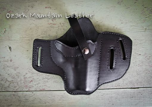 Custom Made Custom Leather Gun Holster Black For Ruger Sr 45