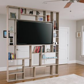 lexington room divider bookshelf tv stand - Built In Entertainment Center Design Ideas