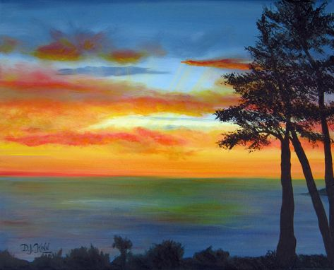 Custom Made Sunset Iii - Oil Painting (Sold)