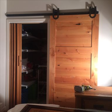 Custom Made Internal Barn Door On Sliding Rail