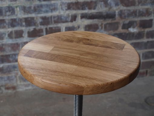 Custom Made Oak Factory Green Stools