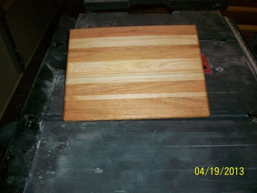 Custom Made Maple And Red Oak Cutting Board