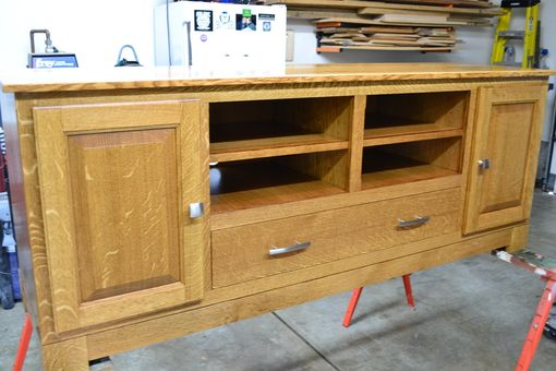 Custom Made White Oak Tv / Entertainment Stand