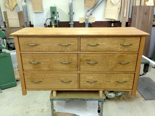 Custom Made Stained Oak Dresser