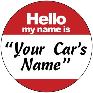 Custom Made Hello My Name Is - Grill Badge For Mini Cooper, Fiat, Jeep