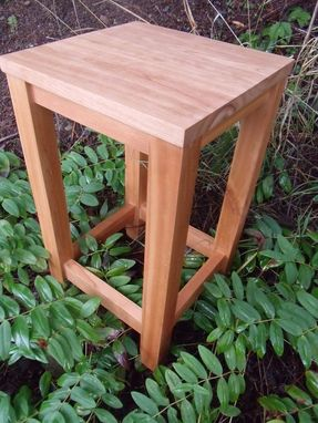 Custom Made Mortise And Tenon Side, End Table. Black Cherry