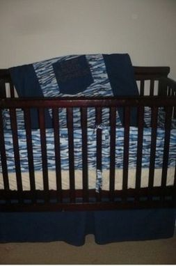 Custom Made Blue Jean Baby Custom Crib Set