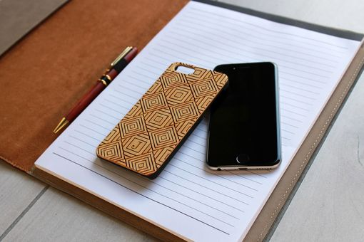 Custom Made Custom Engraved Wooden Iphone 6 Case --Ip6-Bam-Diamond