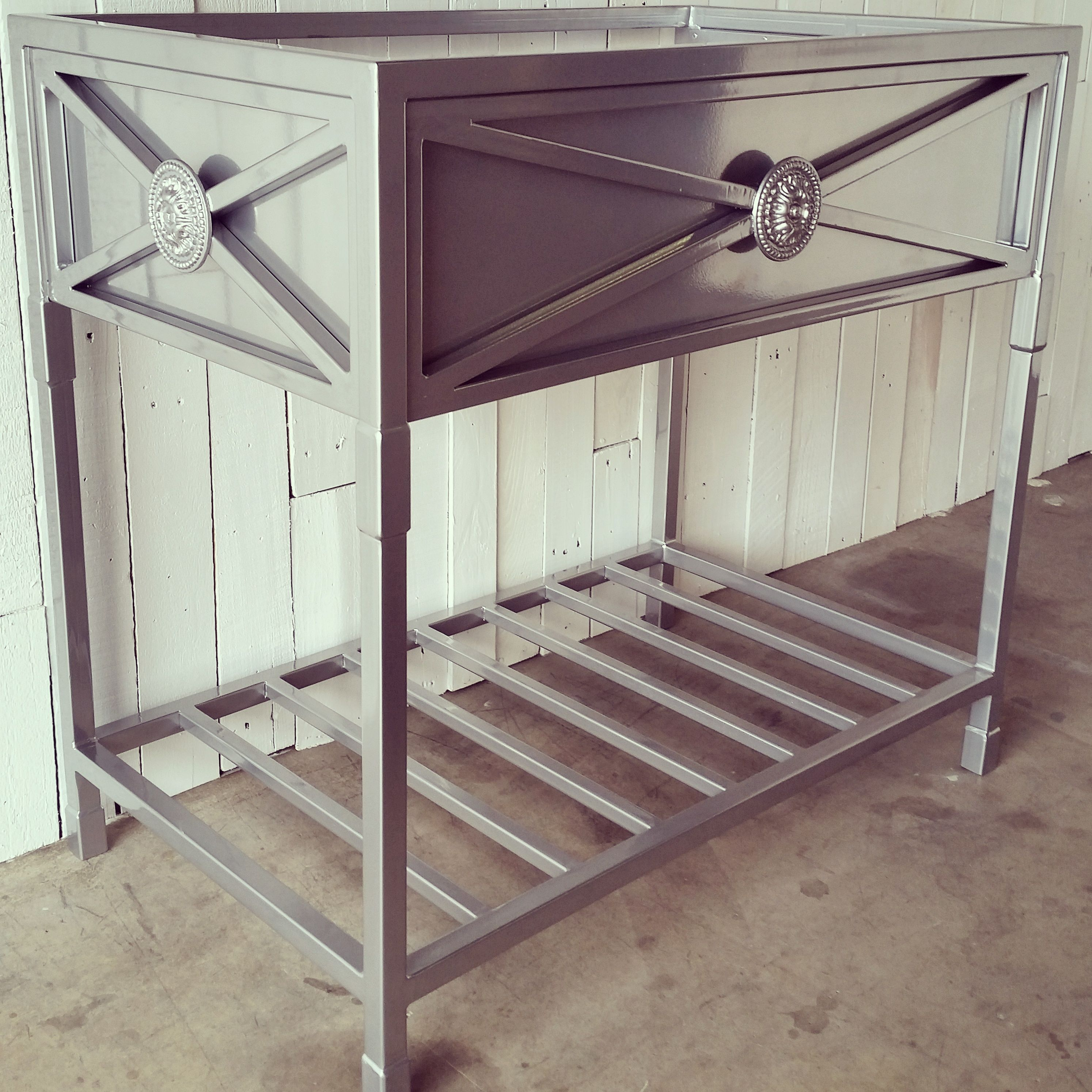 Hand Made Metal Vanity Base by Urban Ironcraft | CustomMade.com