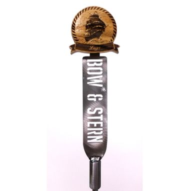 Custom Made Steel And Wood Tap Handle