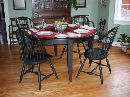 Custom Made Table And Windsor Chairs