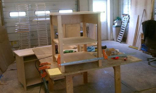 Custom Made White Bed Frame, Chifforobe, 2x End Tables, Entertainment Center
