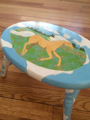 Custom Made Palomino Foot Stool