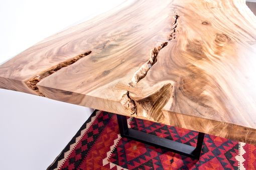 Custom Made Live Edge Wood Slab Table - Perfect For Dining Table