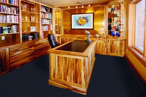 Custom Made Spalted Maple Home Office