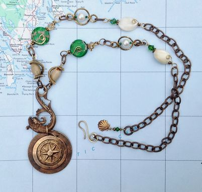 Custom Made Casco Bay Necklace And Earring Set