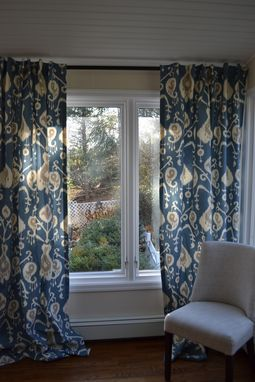 Custom Made Window Curtains, Custom Drapes, Very Elegant, Java Ikat, Pleated Rod Top
