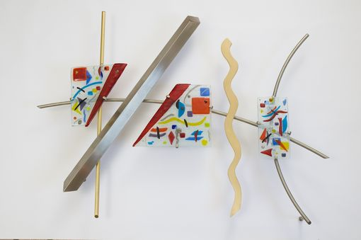 "Custom Made Wall Sculpture - ""Abstraction In Three"""
