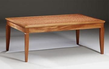 African Mahogany And Makore Coffee Table Large