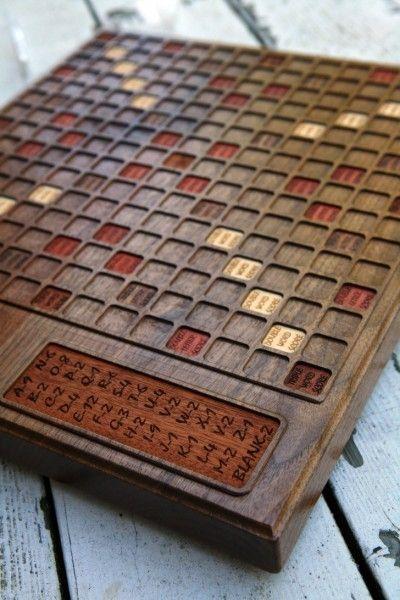 Hand Made Custom Walnut Scrabble Board by Bit & Beam ...
