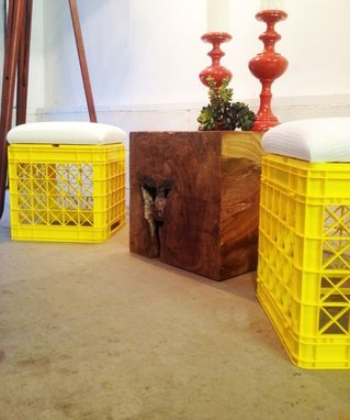 Custom Made Milk Crate Foot Stools
