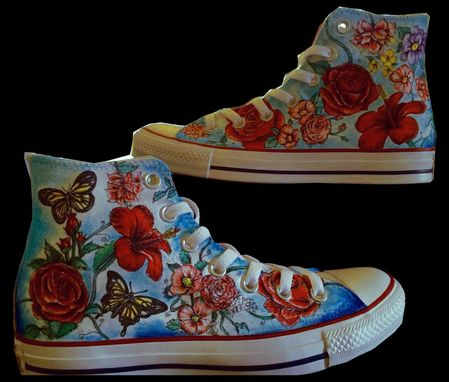 Custom Made Floral Hand Illustrated Shoes