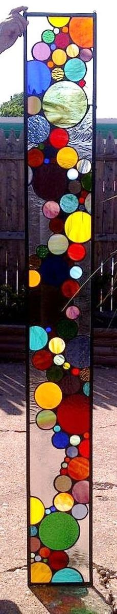 Handmade Stained Gl Window Panel Contemporary Bubble Sidelight S 3 By Terraza Custommade