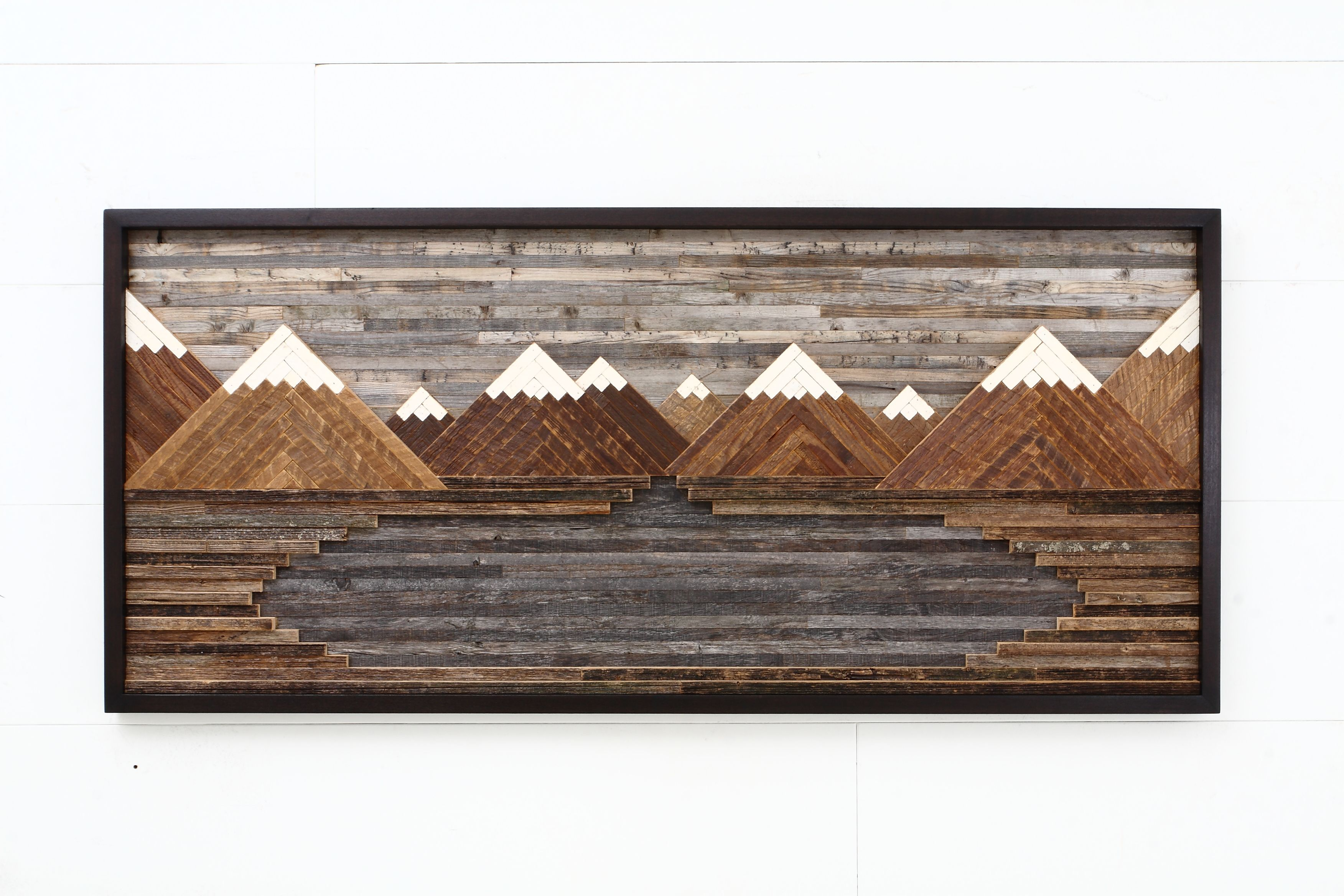 Custom Made Wood Wall Art Mountain Landscape 48 By Carpentercraig