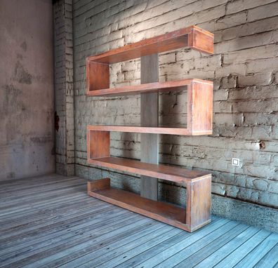 Custom Made Serpentine Bookshelf