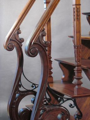 Custom Made French Victorian Library Ladder