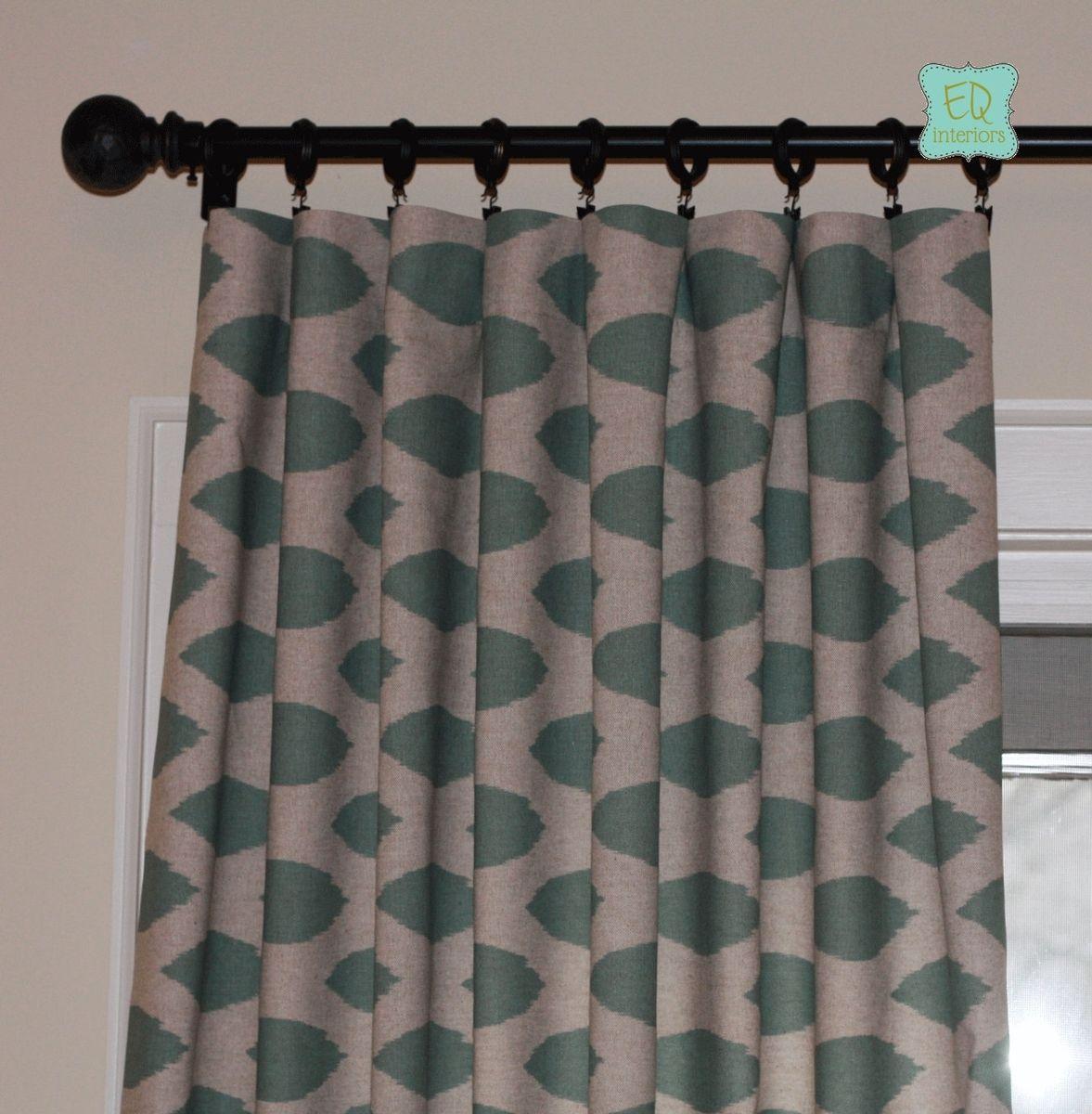 Designer curtain panels - Custom Made Custom Designer Curtain Panels Eaton Blue Chipper Linen Custom Window Coverings 96l X 50w