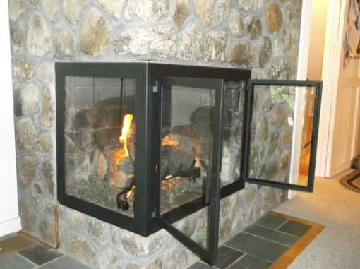 Custom Made Corner Fireplace Doors