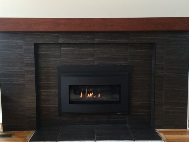 Buy a Handmade Cherry Modern Beam Fireplace Mantel., made ...