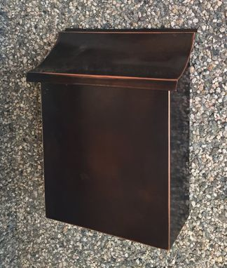 Custom Made Flush Mount Vertical Patina Copper Mailbox