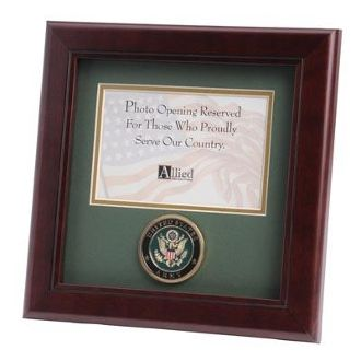 Custom Made U.S. Army Medallion 4-Inch By 6-Inch Landscape Picture Frame