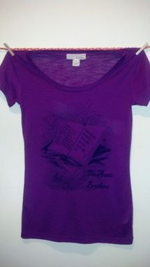 Custom Made Sale The Avett Brothers Shirt With Lyrics,One Of A Kind Fushia/Purple Small Crewneck, Ready To Ship