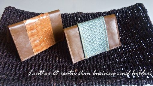 Custom Made Leather Business Card Holders