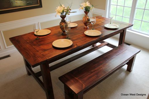 "Custom Made ""Augusta"" Farmhouse Dining Table"