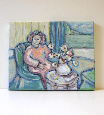Custom Made Acrylic Figure Painting On Canvas Still Life Landscape