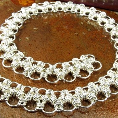Custom Made Women's Hand-Woven Japanese 6-In-1 Chainmail Necklace