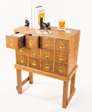 Custom Made Vintage Library Card Catalog Style Cd Organizer