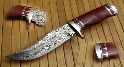 Custom Made Damascus Trail Point Hunter