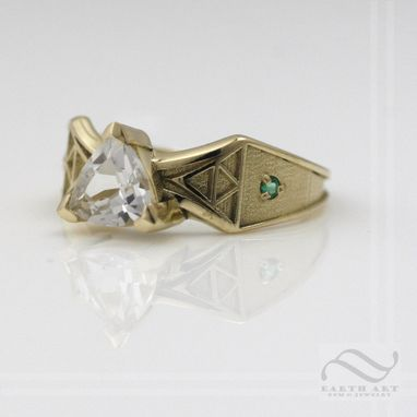 Custom Made 14k Yellow Gold Zelda Engagement Ring